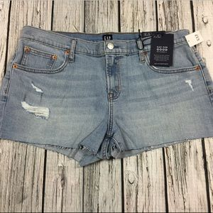 Gap Women 14 16 18 20 Denim Shorts Light Wash